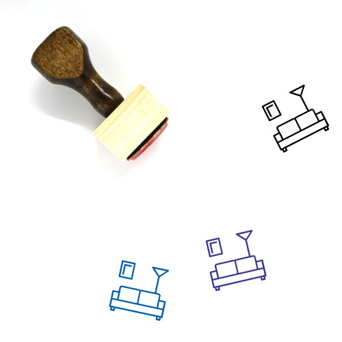 Sofa Wooden Rubber Stamp No. 4