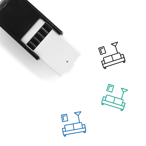 Sofa Self-Inking Rubber Stamp No. 4