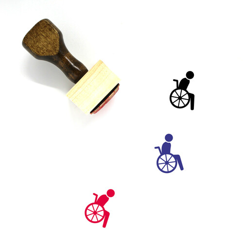 Wheelchair Wooden Rubber Stamp No. 3