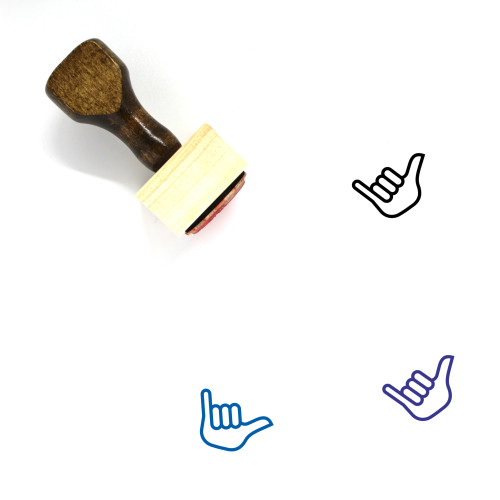 Hang Loose Wooden Rubber Stamp No. 3