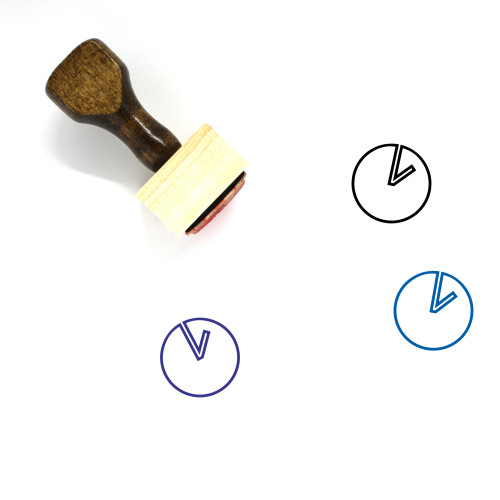 Clock Wooden Rubber Stamp No. 399
