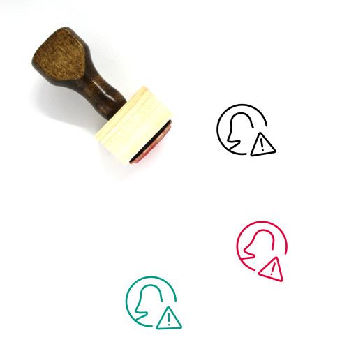 Profile Warning Wooden Rubber Stamp No. 1