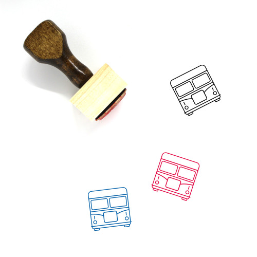 Bus Wooden Rubber Stamp No. 29