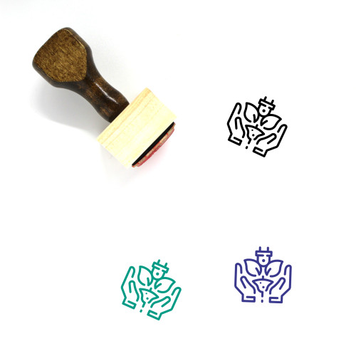 Green Energy Care Wooden Rubber Stamp No. 1