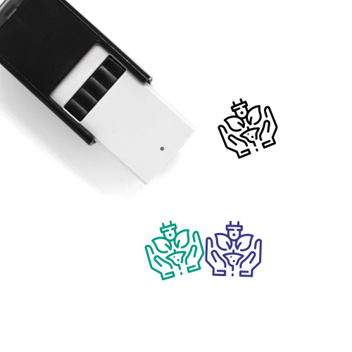 Green Energy Care Self-Inking Rubber Stamp No. 1