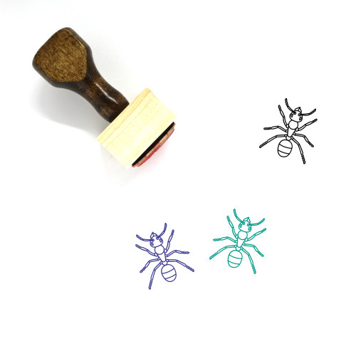 Ant Wooden Rubber Stamp No. 9
