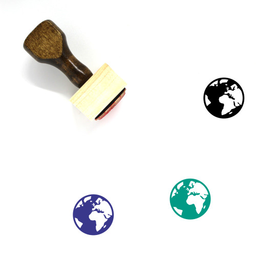 Africa And Europe Wooden Rubber Stamp No. 3