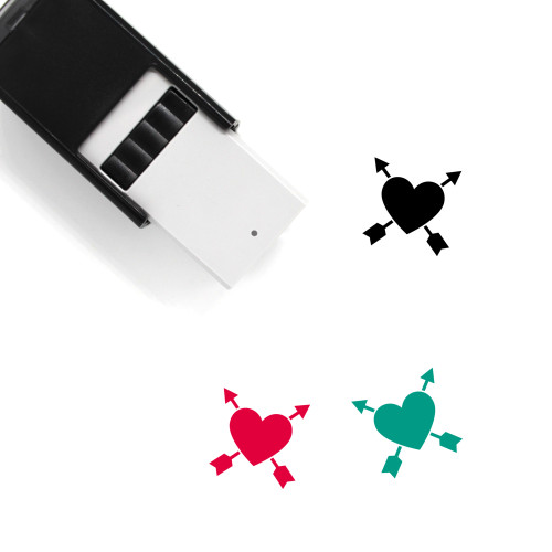 Heart Arrow Self-Inking Rubber Stamp No. 6