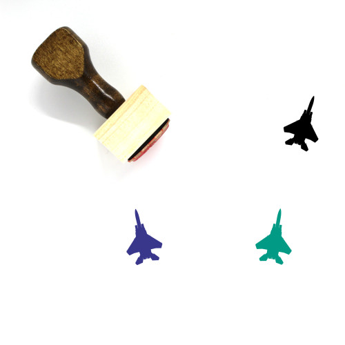 Fighter Jet Wooden Rubber Stamp No. 7