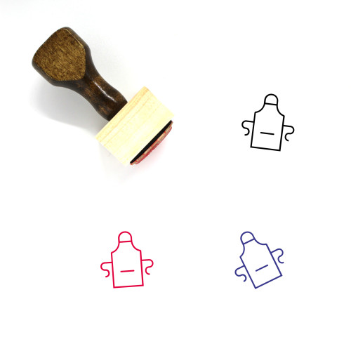 Apron Wooden Rubber Stamp No. 7
