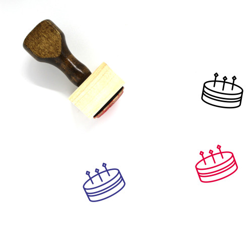 Cake Wooden Rubber Stamp No. 43