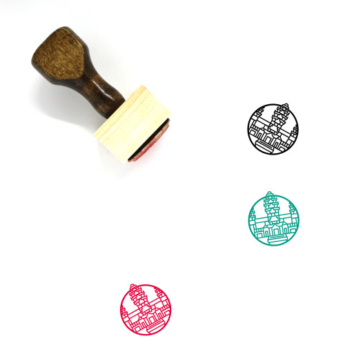 Angkor Wat Wooden Rubber Stamp No. 2