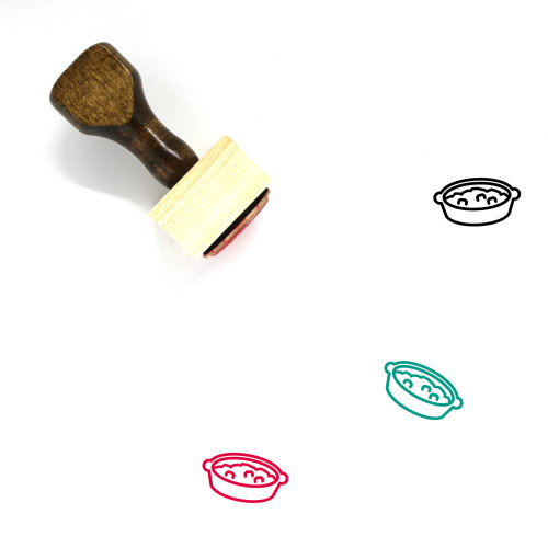 Stuffing Wooden Rubber Stamp No. 6