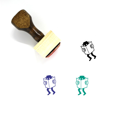 Agent Wooden Rubber Stamp No. 1