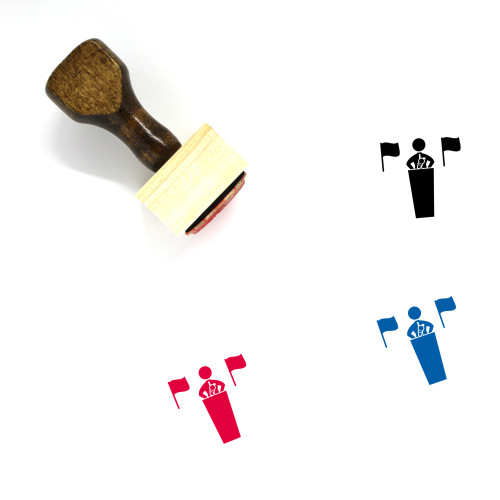 Press Conference Wooden Rubber Stamp No. 3