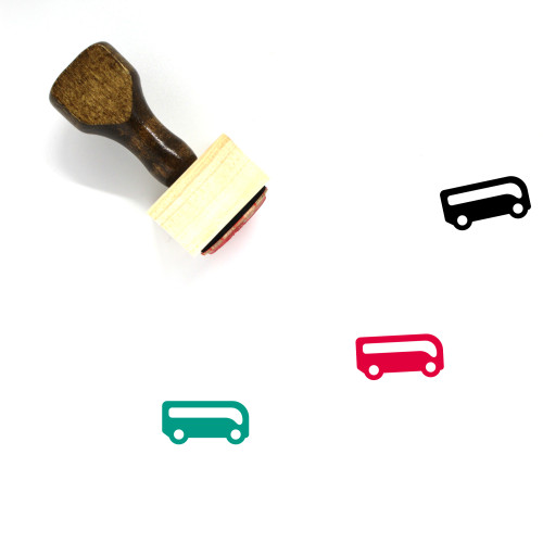 Bus Station Wooden Rubber Stamp No. 1