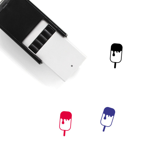 Melting Popsicle Self-Inking Rubber Stamp No. 1