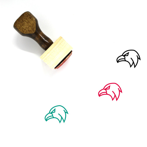 Eagle Face Wooden Rubber Stamp No. 13