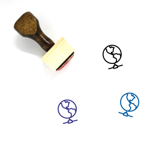 Global Network Wooden Rubber Stamp No. 3