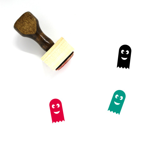 Ghost Wooden Rubber Stamp No. 84