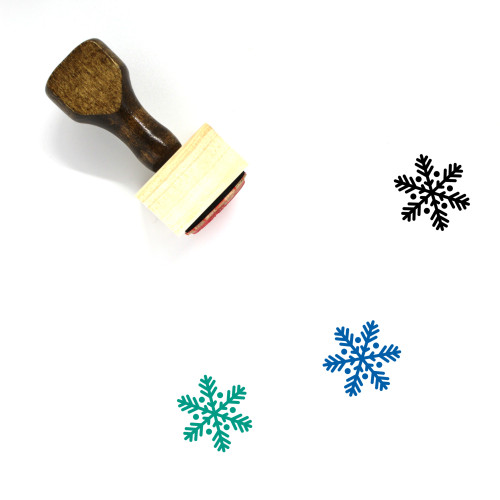 Snowflake Wooden Rubber Stamp No. 100