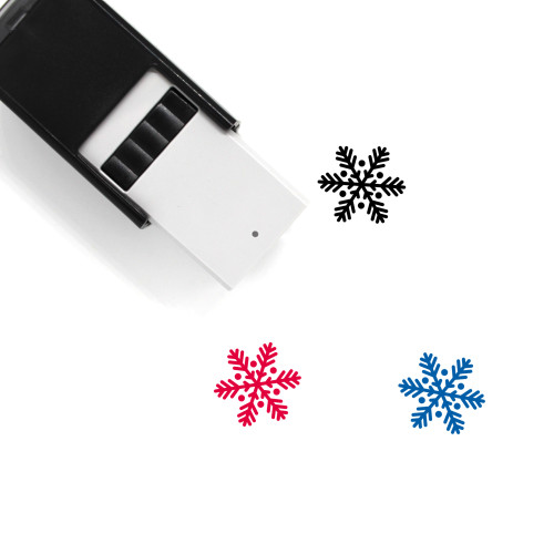 Snowflake Self-Inking Rubber Stamp No. 100