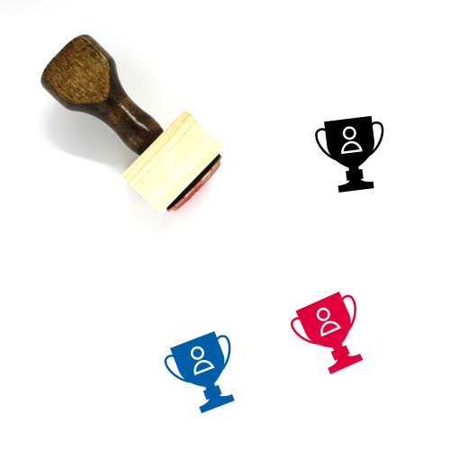 Trophy Wooden Rubber Stamp No. 229