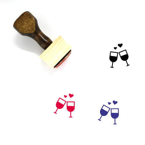 Wine Wooden Rubber Stamp No. 38