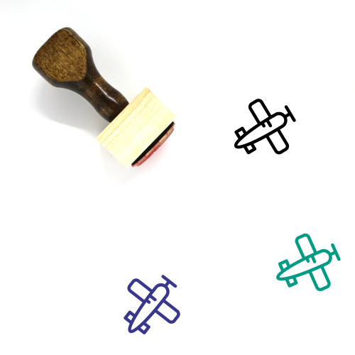 Jet Wooden Rubber Stamp No. 5