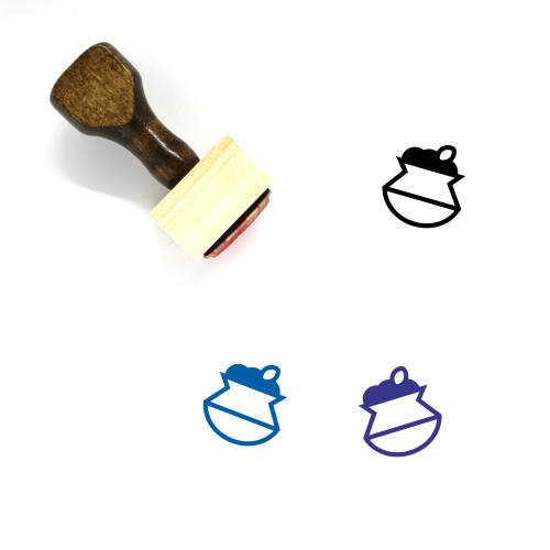 Biryani Pot Wooden Rubber Stamp No. 3
