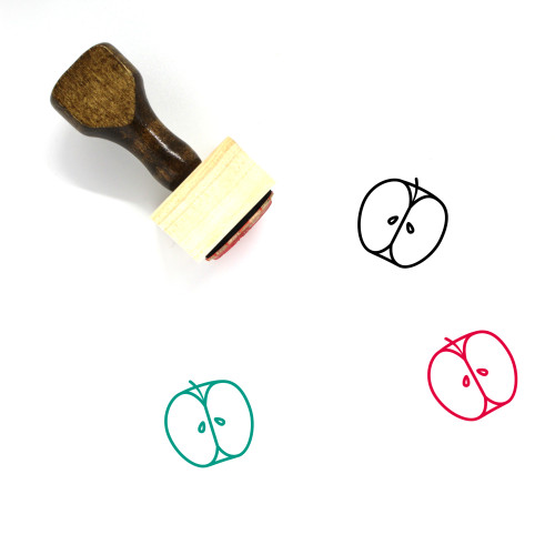 Apple Wooden Rubber Stamp No. 108