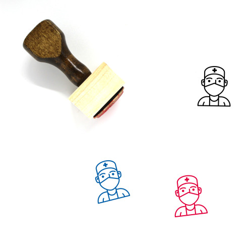 Doctor Wooden Rubber Stamp No. 69