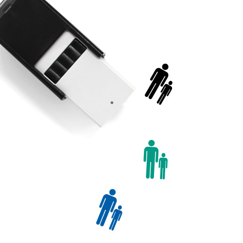 Man And Boy Self-Inking Rubber Stamp No. 1