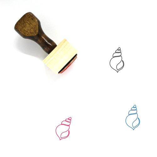 Shell Wooden Rubber Stamp No. 17