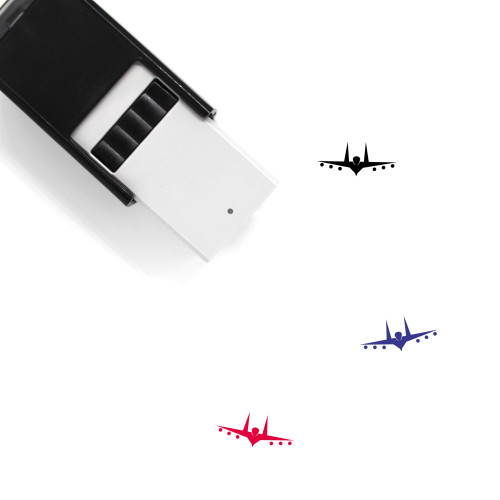 Fighter Plane Self-Inking Rubber Stamp No. 3