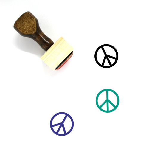 Peace Wooden Rubber Stamp No. 156