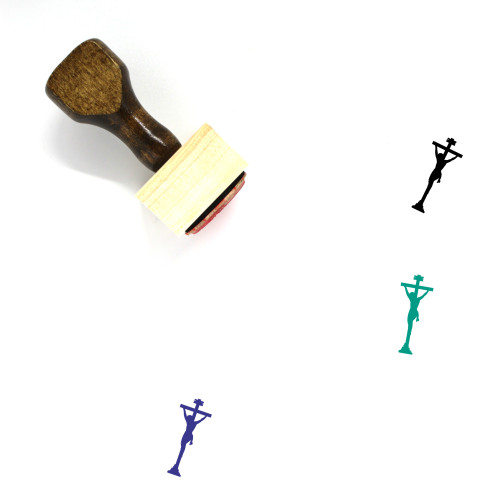 Christ Crucifixion Wooden Rubber Stamp No. 1