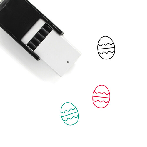 Easter Egg Self-Inking Rubber Stamp No. 496