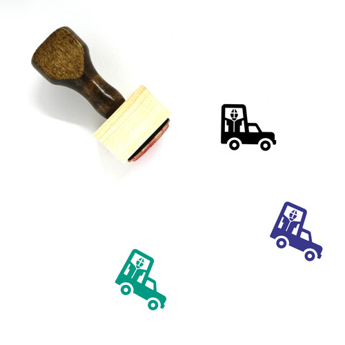 Popemobile Wooden Rubber Stamp No. 2