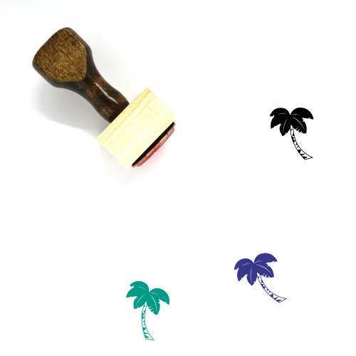 Palm Tree Wooden Rubber Stamp No. 109