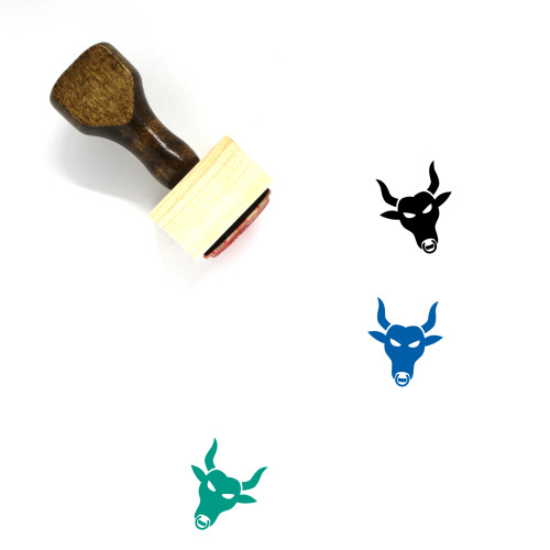 Bull Wooden Rubber Stamp No. 5