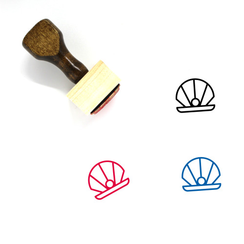 Oyster Wooden Rubber Stamp No. 5