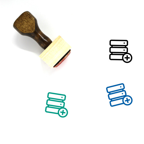 Add Database Wooden Rubber Stamp No. 1