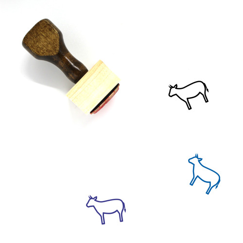 Cow Wooden Rubber Stamp No. 7
