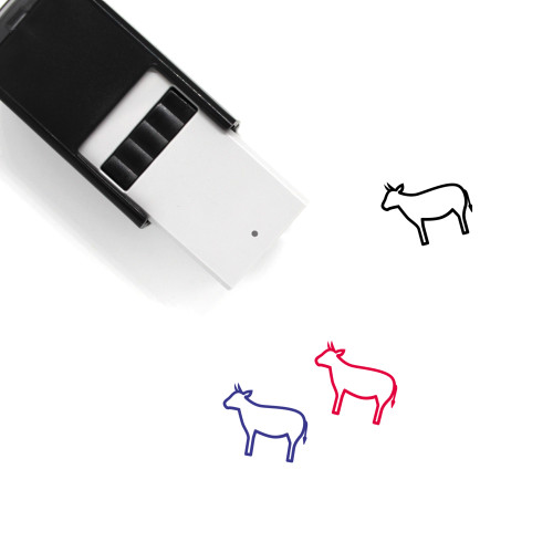 Cow Self-Inking Rubber Stamp No. 7