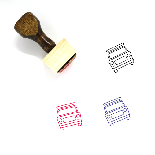 Taxi Wooden Rubber Stamp No. 10