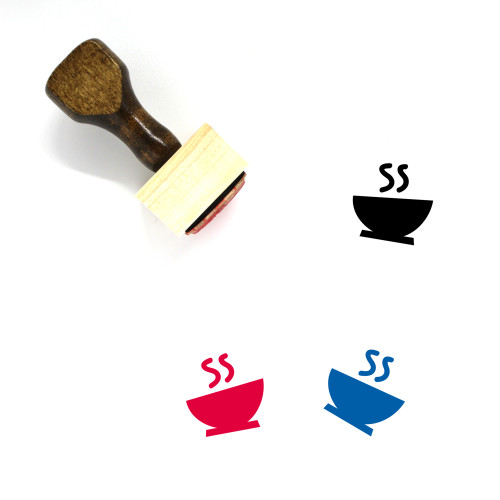 Soup Wooden Rubber Stamp No. 5