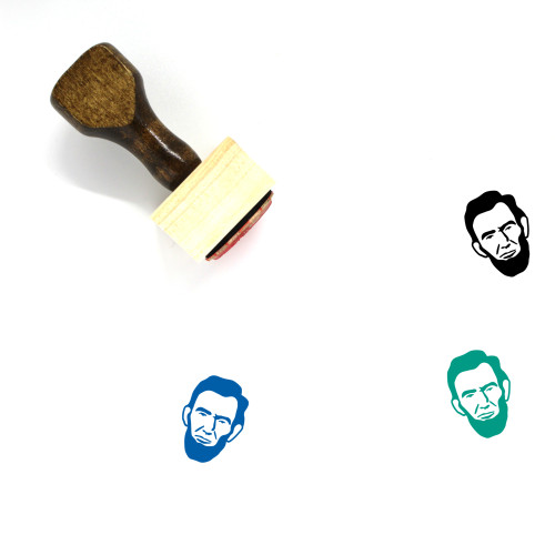 Abraham Lincoln Wooden Rubber Stamp No. 7