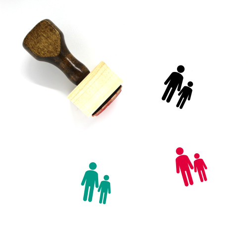 Father And Son Wooden Rubber Stamp No. 10