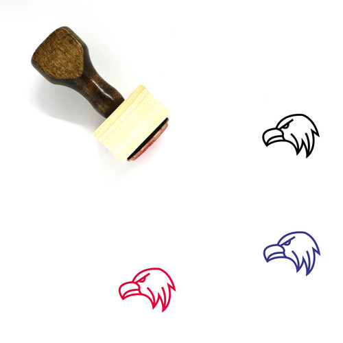 Eagle Face Wooden Rubber Stamp No. 17